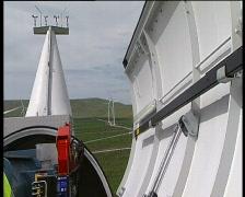 Moving Wind Turbine Nacelle into start Stock Footage
