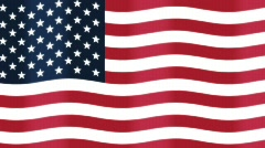 Looping Background of American Flag Stock Footage
