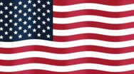 Stock Video Footage of Looping Background of American Flag