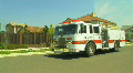 Parked Firetruck HD Footage