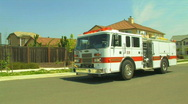 Stock Video Footage of Parked Firetruck