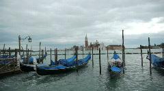 Gondolas - Gondeln - Venice - Venedig - stock footage
