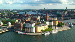 Panorama of Stockholm, Sweden Stock Footage