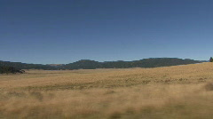 Driving Along Inside The Valles Caldera Of The Jemez Mountains Stock Footage