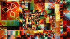 Crazy quilt 1 - stock footage