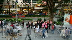 Timelapse of Crowd in Singapore - stock footage
