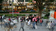 Stock Video Footage of Timelapse of Crowd in Singapore