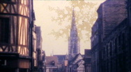 European Gothic Cathedral Church V.1 - Vintage 8mm Film Stock Footage