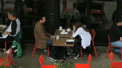 NYC Restaurant Couple - stock footage