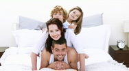 Happy family having at home Stock Footage