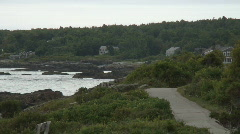 Maine coastline #3, ocean view Stock Footage