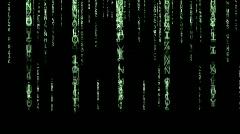 Falling Numbers Matrix Stock Footage