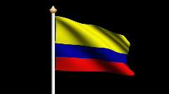 Colombia flag Stock Footage