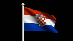 Croatia flag Stock Footage