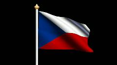 Czech Republic flag Stock Footage