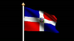 Dominican Republic flag Stock Footage