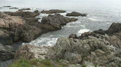 Maine coastline #2, ocean view Stock Footage