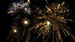 Fireworks HD fireworks finale Stock Footage
