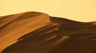 Dunes in desert with wind Stock Footage