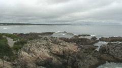 Maine coastline #1, ocean view Stock Footage