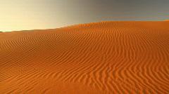 Pan shot over dunes Stock Footage