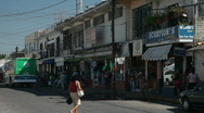 Mexico street ambulance busy business shopping area P HD 4535 Stock Footage