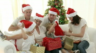 Family Christmas at home Stock Footage