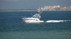 Puerto Vallarta fishing boat P HD 4551 Stock Footage
