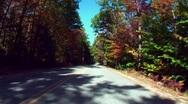 Autumn drive 4 Stock Footage