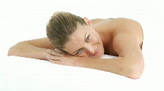 Woman chilling out Stock Footage