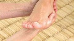 Foot massage in HD Stock Footage