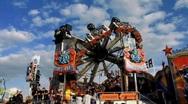 Cannstatter Volksfest, Oktoberfest Stuttgart beer festival Stock Footage