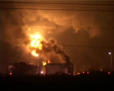 OIL FIRE Stock Footage