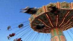 Munich beer festival Oktoberfest carousel Stock Footage