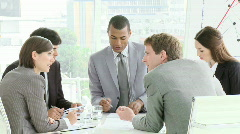 Multi Cultural business meeting with people interacting Stock Footage