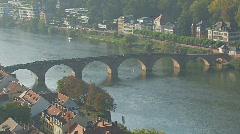 Alte Brücke, Heidelberg, Germany Stock Footage
