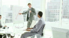 Business people in a meeting - stock footage