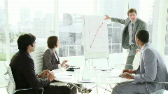 Multi ethnic business people co-workers interacting in a meeting - stock footage