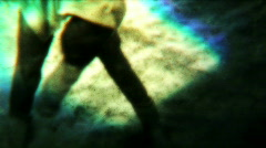 Eerie Landscape Gymnastics 02 - Vintage 8mm Film Stock Footage