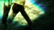 Eerie Landscape Gymnastics 02 - Vintage 8mm Film Stock Footage