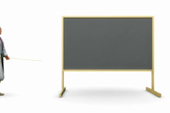 Educator pointing to Chalkboard NTSC Stock Footage