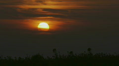 HD1080p Sunset & Clouds (Time Lapse) Stock Footage
