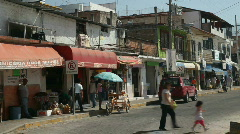 Mexico street scene traffic HD Stock Footage