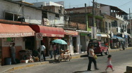 Stock Video Footage of Mexico street scene traffic P HD 4528