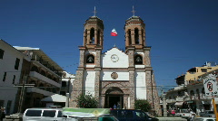 Puerto Vallarta church traffic P HD 4518 Stock Footage