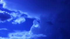 VJ Loop Time Lapse Blue Sky Clouds HD 04 Stock Footage