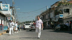 Stock Video Footage of Mexican street busy Puerto P HD 4531