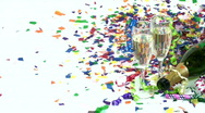 Sparkling Wine Pour Stock Footage