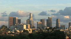 Los Angeles Skyline- Afternoon - stock footage