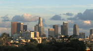 Stock Video Footage of Los Angeles Skyline- Afternoon